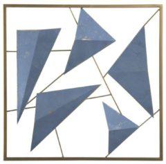 Beliani ZINC - Wanddecoratie - Blauw - Metaal