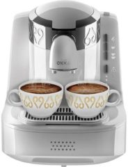 Arzum OKKA Turkish Coffee Machine| OK002WHITE| White - Chrome |Turks Koffizetapparat - Wit & Zilver - Full Automatic | 2 kopjes