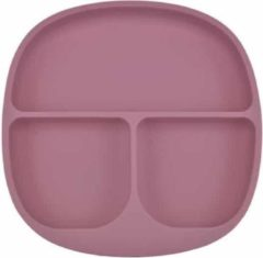 Ricama Siliconen Bord & Bestek - Kinderservies - Framboos Roze