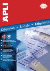 Apli Transparante etiketten formaat 485 x 254 mm (b x h) 880 stuks 44 per blad doos van 20 blad