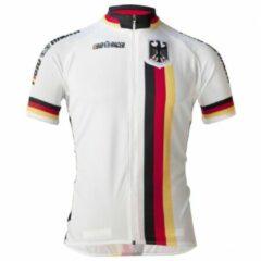 Grijze Bioracer - Germany Short Sleeve Jersey - Fietsshirt maat S grijs/wit