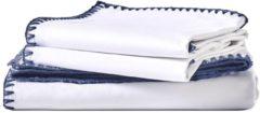 Van Morgen – Ballroom Ballers - Dekbedovertrek set - 100% Percal katoen – Wit / donkerblauw – 200 x 220 cm