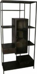 Antraciet-grijze Vtw Living Industriële kast van metaal - Vakkenkast - Kast - Dressoir - Industrieel - Luxe - Premium - Boekenkast - Metaal - Metalen kast - 181 cm hoog