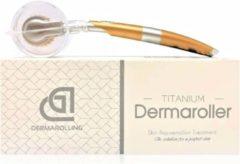 Zwarte Merkloos / Sans marque Dermarolling Dermaroller 540 naalden - 0.5mm titanium naalden