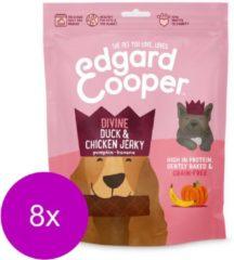 Edgard & Cooper Eend & Kip Jerky - voor honden - Hondensnack - 8 x 150g