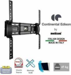 Zwarte CONTINENTAL EDISON Ondersteuning TV-muurschildering inclinable TV 40-65 '' VESA 400 * 400