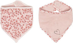 Roze Bébé-jou Bebe-Jou Leopard Bandana Slab 2 Stuks Pink