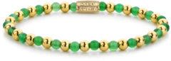 Rebel & Rose Rebel and Rose RR-40049-G Rekarmband Beads Mix groen Harmony groen-goudkleurig 4 mm S 16,5 cm