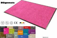 """Roze Smophy Home Wash & Clean vloerkleed / entree mat, droogloop, ook voor professioneel gebruik, kleur """"Pink"""" machine wasbaar 30°, 150 cm x 90 cm."""