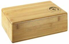 Trendy Sport Yoga blok - Yogablok - Yoga Block - 23 cm lang - 15 cm breed - 7.5 cm dik - Bamboe