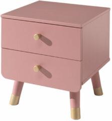 Vipack Nachtkastje Billy retro 2 laden - roze