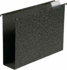 Elba Hangmap verticaal Vertic hardboard Folio, 80 mm bodem, zwart (doos 10 stuks)