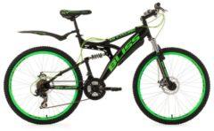 KS Cycling Fully Mountainbike, 26 Zoll, schwarz-grün, 21 Gang Kettenschaltung, »Bliss«