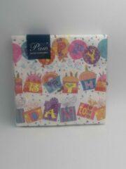 """Royal ware by Farla VOORDEELPAK: 5 Pakjes van Servetten met verjaardag afdruk - """"Happy Birthday"""", 33 cm - verpakking van 20 servietten"""