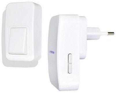 Afbeelding van Wireless door bell Complete set Battery-free wireless doorbell ECO X4-LIFE 701393
