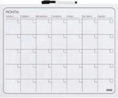 Witte Planbord maand desq 40 x 50 cm randloos + marker magnetisch