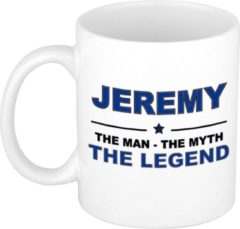 Bellatio Decorations Naam cadeau Jeremy - The man, The myth the legend koffie mok / beker 300 ml - naam/namen mokken - Cadeau voor o.a verjaardag/ vaderdag/ pensioen/ geslaagd/ bedankt