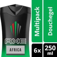 Axe Africa For Men - 250 ml - Douche Gel - 6 stuks - Voordeelverpakking