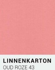 Linnenkarton notrakkarton Linnenkarton 43 Oud roze 30,5x30,5cm 240 gr.
