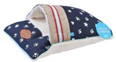 Lichtblauwe Lief! Lifestyle Lief! katten- hondenkussen met slaapzak unisex 47x32 cm