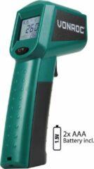 VONROC Digitale infrarood thermometer – Laser – Meetbereik -40°C tot 530°C – Incl. 2 batterijen