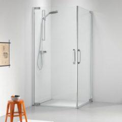Sealskin Get Wet Impact douchecabine met hoekinstap 100x100x195cm chroom zilver hoogglans helder glas CL50100D330100