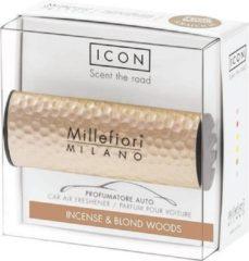 Bruine Millefiori Milano Auto parfum Incense & Blond Woods (Metal Shades)