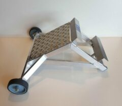 Solide Ladderafhouder Aluminium met schuine hoek met traanplaat