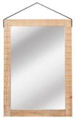 Naturelkleurige LABEL51 Spiegel Spiegel - Naturel - Mangohout - 70x100 cm