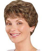 Goudkleurige Pruik Jasmin Lofty middenbruin/ambergoudblonde highlights