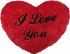 Merkloos / Sans marque Pluche I Love You kussen 35 cm