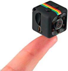 Zwarte Soundlogic Full HD Mini Camera - 2,3x2,3cm - Te Gebruiken Als Beveiliginscamera, Sportcamera, Dashcam, Spycam