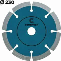Blauwe Combitech Tools Diamantschijf beton 230mm - Harde steensoorten - Premium Diamantzaagblad