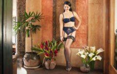 Zwarte Aristoc Sensuous 10 denier Lace Top Stockings - Large - Vaguely Black