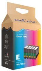 Wecare inkt cartridge combipack zwart + kleur (5 stuks)