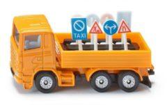Siku vrachtwagen met verkeersborden oranje (1322)