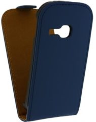 Blauwe Mobilize Ultra Slim Flip Case Samsung Galaxy Young S6310 Dark Blue