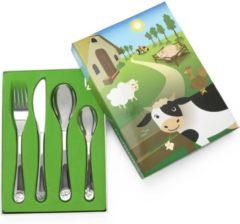 Zilveren Zilverstad Lucardi - Gift Items - Kindercouvert Boerderijdieren 4-delig