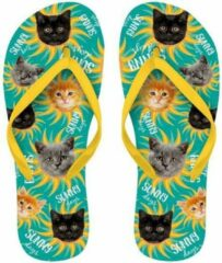 Groene Merkloos / Sans marque Slipper Flip Flop Kittens maat 37-39