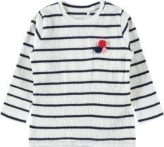Blauwe Name it Gestreept T-T-Shirt Lange Mouwen - Dark Sapphire - Maat 104