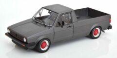 "Volkswagen Caddy MK I ""Custom"" Matgrijs ( rode Velgen ) 1-18 Solido"