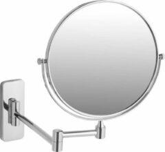 Zilveren TecTake - Spiegel - make up spiegel - 5 voudig - 402642