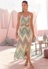Lascana midi jurk met zomerse print
