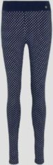 Blauwe TOM TAILOR Polka Dot Pyjama Legging, dark blue allover, 34