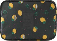 Gele Travel 'Black Lemon' Toilettas Citroen   Make Up Organizer/Travel Bag/Reistas   Fashion Favorite