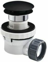 Witte Wirquin Wirq lavabosifon kort 5/4 + plug mat zwart