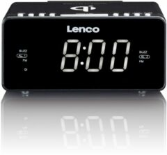 Lenco CR-550 - Wekkerradio met Qi Wireless smartphone oplader - Zwart