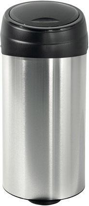 Afbeelding van Roestvrijstalen Meliconi Soft Touch Prullenbak - 60 l - Zwart RVS