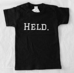 Witte Babybugz T-shirt Baby - Zwart - Held - 9 maanden