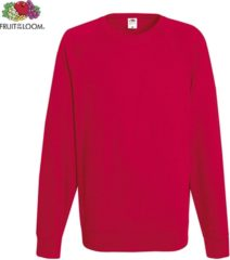 Rode Fruit of the Loom sweater - ronde hals - maat M - heren - Kleur Red